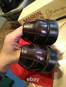10 Vintage Wingtip Mens Dress Shoes Shell Cordovan horse leather mason excllen