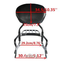 12 Backrest Sissy Bar & Leather Pad For Indian Chief Dark Horse Classic Vintage