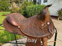 14 Vintage CIRCLE Y Western Barrel Horse Saddle