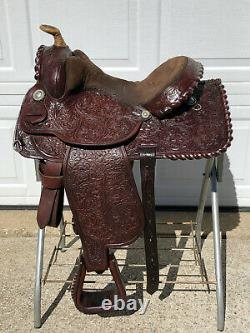 15 CIRCLE Y Vintage Western Horse Saddle Gorgeous