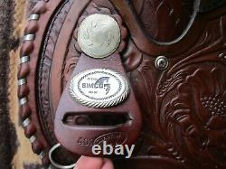 15'' VNTG SIMCO ARABIAN WESTERN TOOLED TRAIL SADDLE w MATCHING BREAST COLLAR
