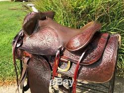 15 Vintage BIG HORN Western Horse Saddle w Metal Horn