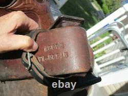 15'' Vintage Hereford Textan Roper Brown Leather Western Tooled Saddle Sqhb 34.2