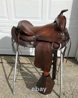 15 Vintage SIMCO Western Horse Saddle w Tapaderos