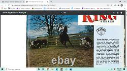 15'' Vntg King Series Big Horn #1825 H. M. Cutter Tooled Western Saddle Fqhb 35lb#