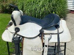 15 White Vintage Western Horse Saddle Rodeo / Movie