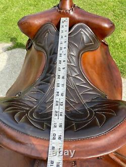 16 BIG HORN Vintage BEAR TRAP Western Horse Saddle #855
