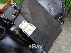 16 Vintage Black Leather Western Horse Parade Saddle