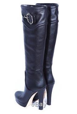 -1600$- GUCCI HORSEBIT Vintage Designer over Knee high OTK Leather Boots Stiefel