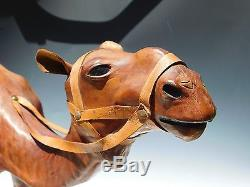 18 Moroccan Leather Camel Model/Figurine/Sculpture/Statue Desert Horse Vintage
