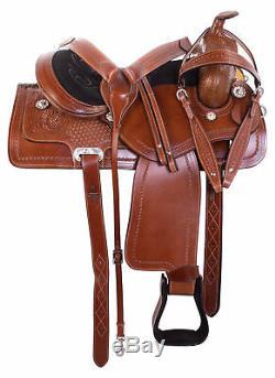 18 Used Western Saddle Pleasure Trail Barrel Racing Leather Vintage Horse Tack