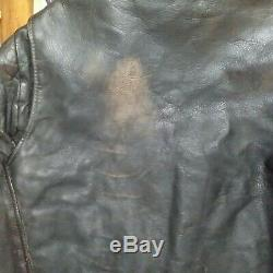 1950's vintage horse hide motorcycle jacket