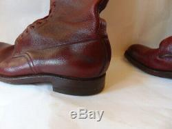 1958 Vintage RCMP Horse Riding Boots Size 12F Mac&L Sole Goodyear Heels