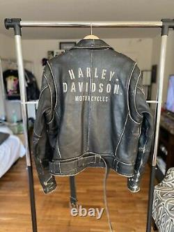 1970s Vintage Harley Davidson Leather Motorcycle Jacket Horse Eagle Goldberg Wwf