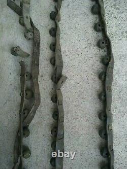 3 40 Leather Straps Of Vintage BRASS HORSE SLEIGH BELLS 48 Bells Total