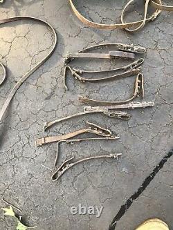30+Lbs Horse Tack Cowboy Tac Bridle Reigns Bits Leather Straps Vintage Lot