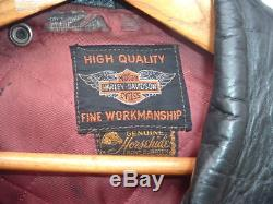 50's Era Harley Davidson Cycle Champ / Horse Hide Sz 42
