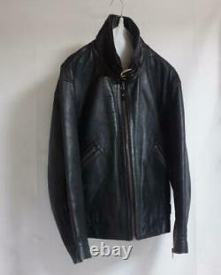 80's ISSEY MIYAKE DUETRIO Horse Leather jacket Vintage Rare From japan F/S P7