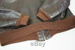 A2 Horsehide Flight Jacket 40 42 Medium WWII Civilian Glove vintage Horse hide