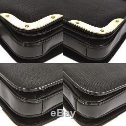 Authentic Comtesse Shoulder Bag Brown Horse Hair Leather Germany Vintage K05808