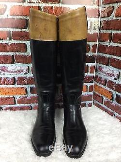 Authentic Vintage John Lobb Men's Black Leather Horse Riding Boots