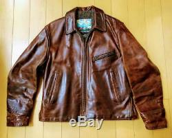 Aero Leather Riders Jacket Coat Outer Vintage Horsehide Horse Size 40 Men's