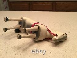 Antique Schoenhut Circus Horse Intact Nice 5.5 Tall Painted Eyes Leather Ears