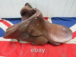 Antique Vintage Equestrian Riders Leather Horse Saddle Ralph Lauren Style