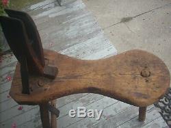 Antique Vintage Harness Leather Vise Blacksmith Saddle Stitching Horse Farm Tool