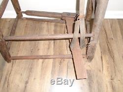 Antique Vintage Harness Leather Viseblacksmithsaddlestitching Horsefarm Tool