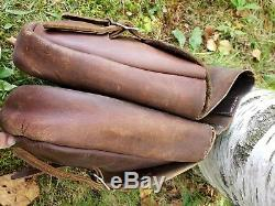 Antique Vintage Leather Saddlebags Horse Harley Davidson Indian motorcycle