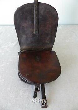 Antique vtg Al Furstnow leather saddle bags hand tooled horse child teen