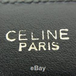 Auth CELINE Vintage Logos Horse Carriage Leather Belt Sz 75 F/S 31941eSaM