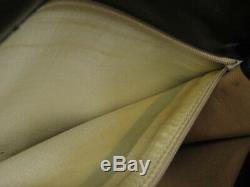Auth Celine Vintage Horse Carriage Black Leather Shoulder Bag Ey606