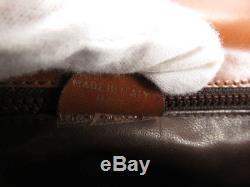 Auth Celine Vintage Horse Carriage Brown Leather Shoulder Bag Ey768