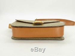 Auth Celine Vintage Horse Carriage Macadam Pvc Leather Shoulder Bag Ey693