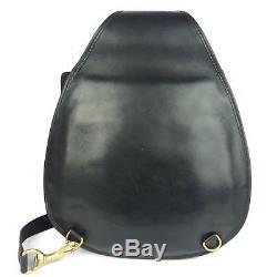 Auth GUCCI Vintage Horse Bit Leather Shoulder Bag F/S 24196eSaM