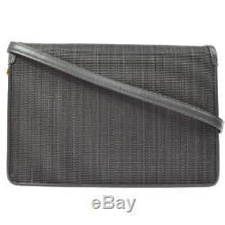 Authentic COMTESSE 2way Shoulder Bag Gray Horse Hair Leather Vintage AK21410