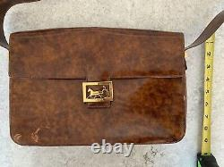 Authentic Celine Vintage Horse Carriage Shoulder Bag