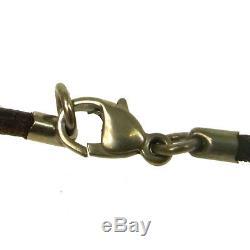 Authentic HERMES Vintage Logos Horse Motif Pendant Necklace Accessories AK17261j