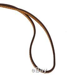 Authentic HERMES Vintage Paddock Horse Head Bag Charm Brown Leather RK13838
