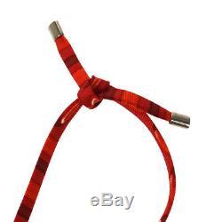 Authentic HERMES Vintage Samarcande Horse Head Bag Charm Orange Pink AK26927