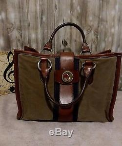 Authentic Rebecca Ray Vintage Horse Head leather Hand Bag horse racing country
