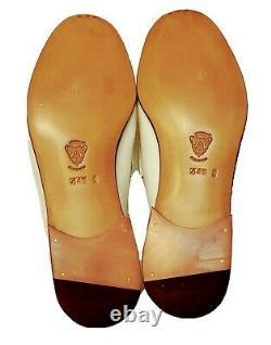 Authentic Vintage Gucci Gold Horse Bit White Loafer Dress Shoe Mens Size 44.5d