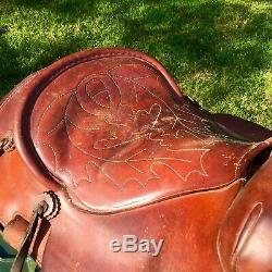 AuthenticFALLIS SADDLERY MAKERS Elbert, Colorado #7470-5228 Horse Saddle