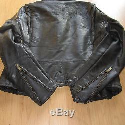 BUCO J-24 Cafe Racer Horse hide Leather Moto Jacket Size 40 Vintage (1950s)