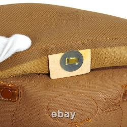 BURBERRY'S Horse Check Hand Tote Bag Purse Brown Canvas Leather Vintage A54045