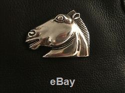 Barry Kieselstein Cord Handbag Horse Emblem Sterling Silver Vintage