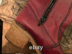 Beauties! Vintage Etienne Aigner Boots Tall Burgundy Redwood Leather- Italy 8