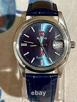Beautiful Vintage Rado Purple Horse 1960 Automatic Mens Watch